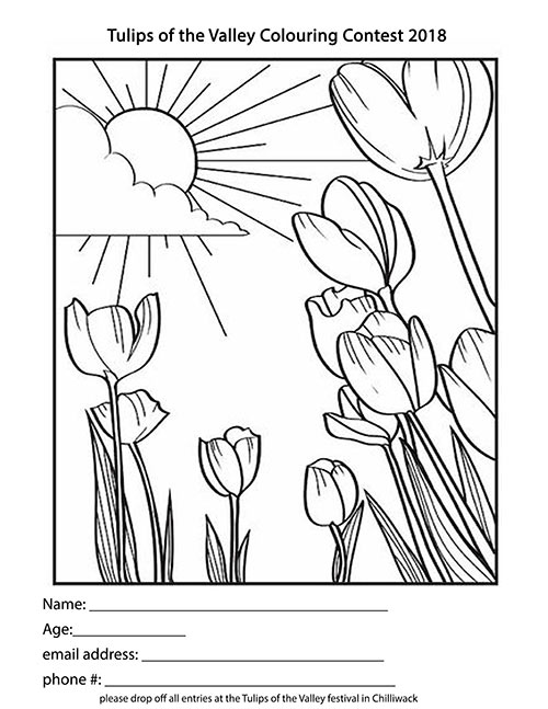 Colouring Contest at Tulips of the Valley Chilliwack